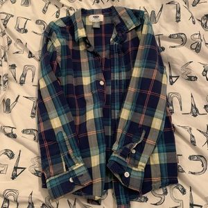 Old Navy boys flannel long sleeve button down